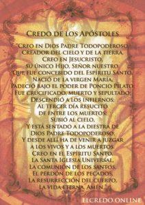 Oración del credo de los Apóstoles