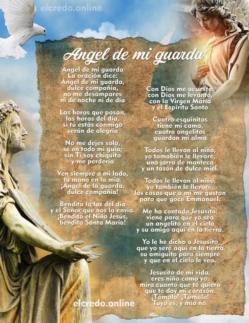 Angel De Mi Guarda Mi Dulce Compañía Oraciones Católicas