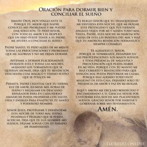 Oración para dormir bien y conciliar el sueño