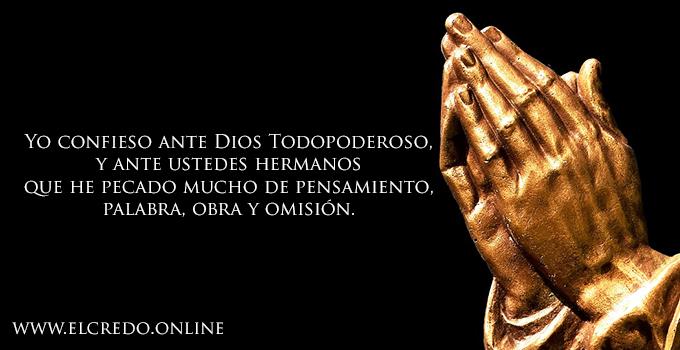 Imagen para rezar el yo confieso