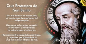 Oración de la Cruz protectora de San Benito