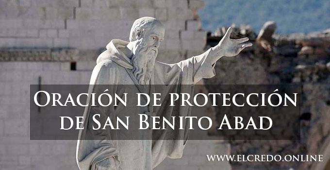 Oración de protección de San Benito Abad