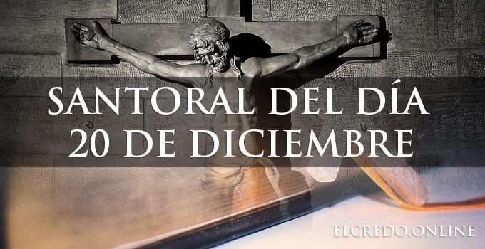 20 diciembre que santos se celebra