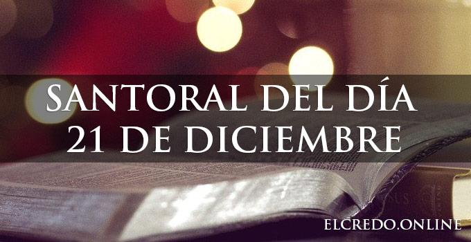 Santos celebrados 21 de diciembre