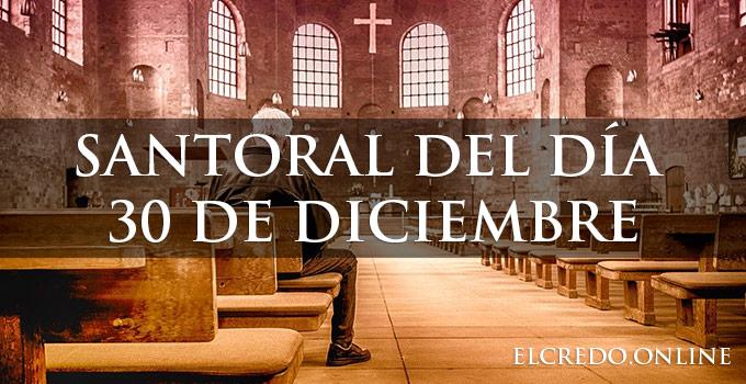 Santorial católico diciembre