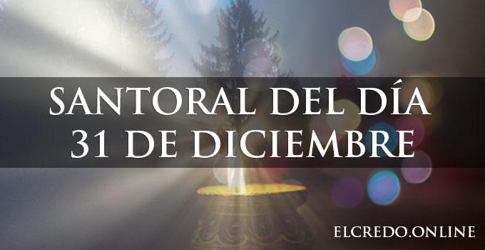 Ultimo santoral catolico del año