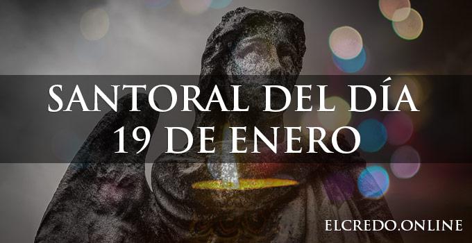 Santos y santas celebraciones del 19 de enero
