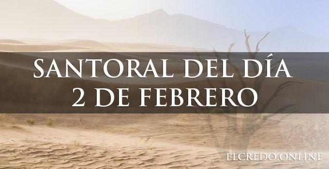 Celebración católica del 2 de febrero