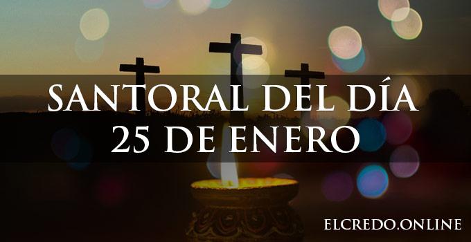 Santos del 25 de enero