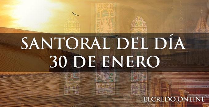 Celebración católica del día 30 de enero