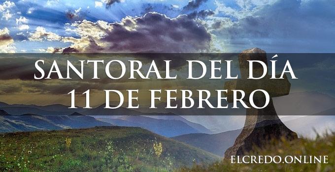 Santos del 11 de febrero