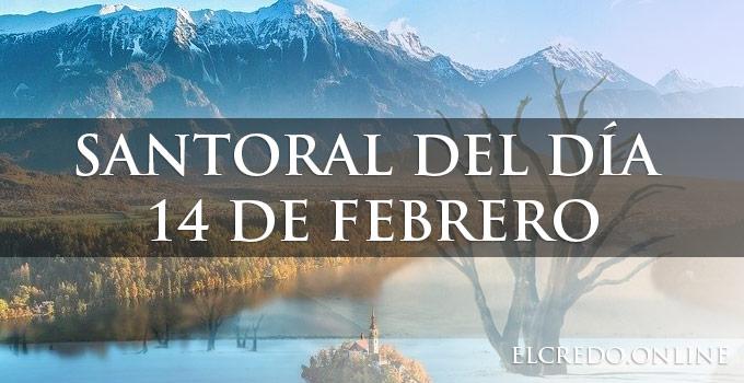 Santos del día 14 febrero