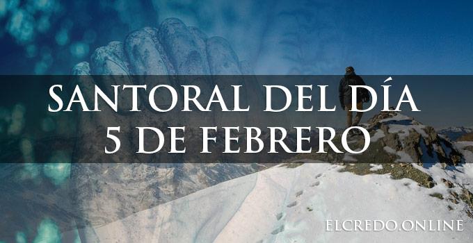 Santos celebrados el 5 de febrero