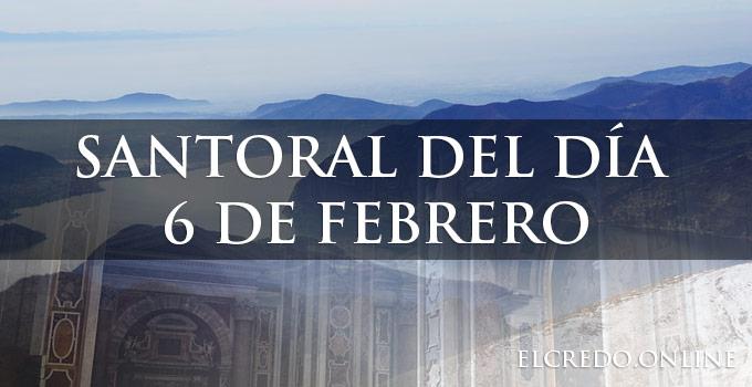 celebración de santos del 6 febrero