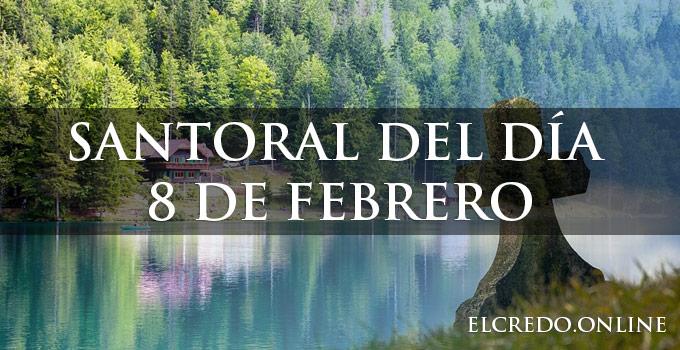 Calendario santoral catĺico del 8 de febrero