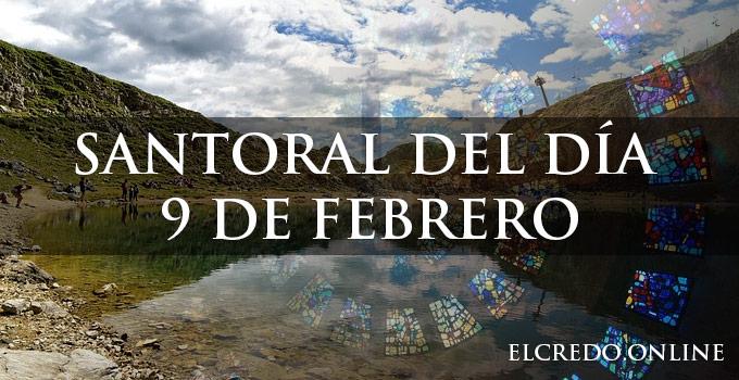Santos católicos festejados el 9 de febrero